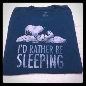 I'd rather be sleeping Snoopy peanuts tee